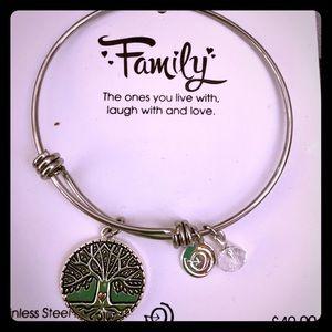 NWT: Family charm bracelet in silver